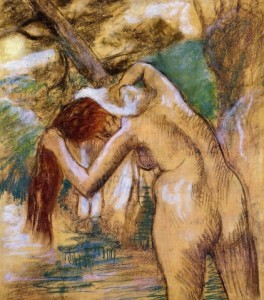 Edgar-Degas-Bather-by-the-Water-Oil-Painting